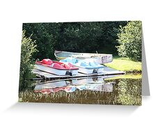 Cabot Cove Lake Paddle Boats & Dorry Greeting Card