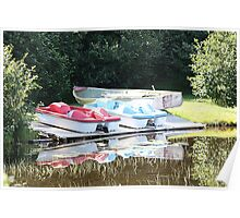 Cabot Cove Lake Paddle Boats & Dorry Poster