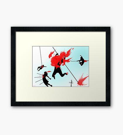 Killing in the name of Framed Print