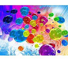 When Rainbows Melt Into Bubbles Photographic Print