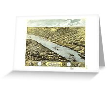 Bird's Eye View of the City of Atchison Kansas 1869 Greeting Card