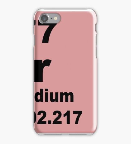 Iridium periodic table of elements iPhone Case/Skin