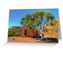 Barrow Creek Telegraph Outhouse Greeting Card