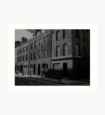 Furnier Street in Black and White Art Print