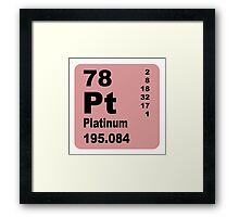 Platinum periodic table of elements Framed Print