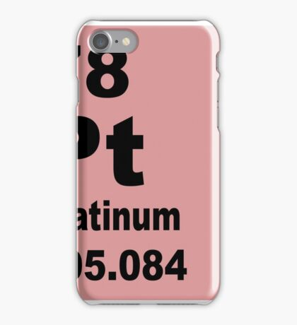Platinum periodic table of elements iPhone Case/Skin