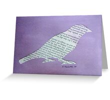 Wordy Birdy  Greeting Card