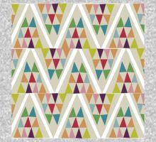 Geometric Multicolor Triangle Pattern One Piece - Long Sleeve