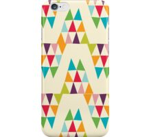 Geometric Multicolor Triangle Pattern iPhone Case/Skin