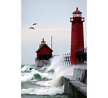 Lighthouse on the Lake Photographic Print