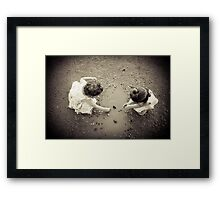 friends - dresses and mud Framed Print