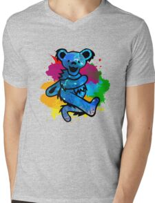 Grateful Dead Bear Mens V-Neck T-Shirt