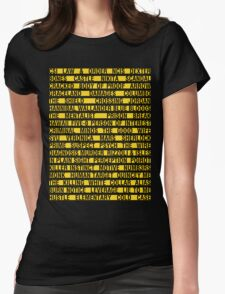 Crime Shows Police Tape Womens Fitted T-Shirt