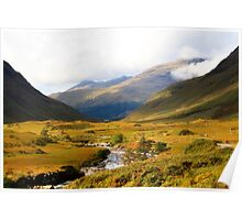 Glen Etive in Autumn Poster