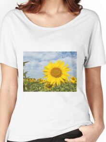 Sunflowers in a field Women's Relaxed Fit T-Shirt