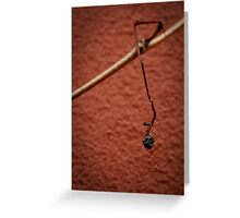 Grape on House Wall Greeting Card