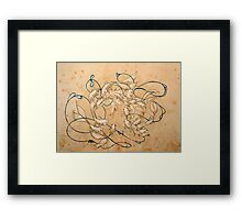 Twirl and Loop Framed Print