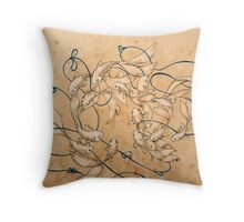 Twirl and Loop Throw Pillow