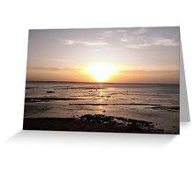 beautifull sunset Greeting Card