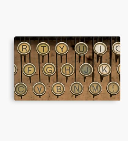 Keys to Writing Canvas Print
