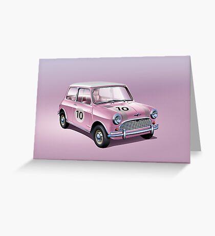 Mini pink Greeting Card