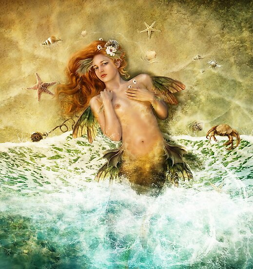 Washed Ashore - Mermaid by gingerkelly