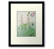 Soccer Women Framed Print