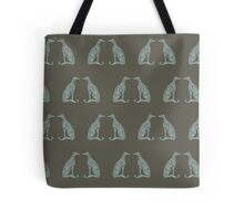 Double Greyhounds - Olive/Aqua Tote Bag