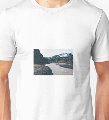 Mountain and stream  Unisex T-Shirt