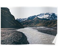 Mountain and stream  Poster