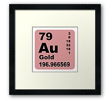 Gold periodic table of elements Framed Print
