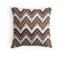 Bohemian print with chevron pattern in light brown colors Throw Pillow