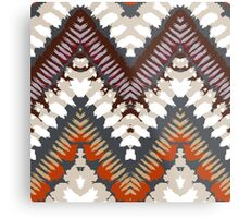 Bohemian print with chevron pattern in light brown colors Metal Print