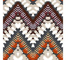 Bohemian print with chevron pattern in light brown colors Photographic Print