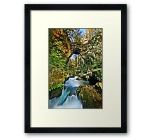 Theogefyro (God's bridge) Framed Print