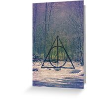 Deathly Hallows // Harry Potter DH Pattern Greeting Card