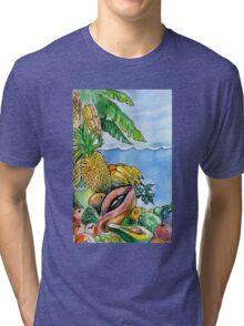 Frutas de la Isla. Tri-blend T-Shirt