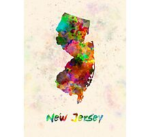 New Jersey US state in watercolor Photographic Print