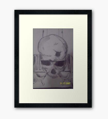 """Gun, """" Very mad at the xbox that day. Mines Better."""" Framed Print"""