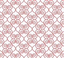 Fancy Hearts Coral by Decoravie