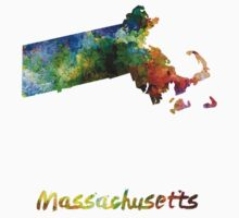 Massachusetts US state in watercolor T-Shirt
