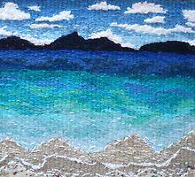 Tropical Beach by Deb  McFarlane