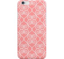 White & Coral hearts iPhone Case/Skin