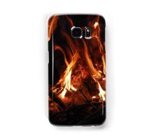 Burning wood Samsung Galaxy Case/Skin