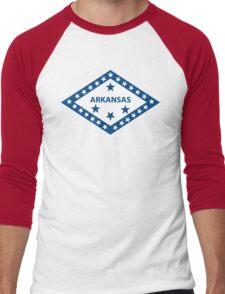 Arkansas Flag Men's Baseball ¾ T-Shirt