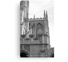 Bath England Abbey 2010 - Captioned Canvas Print