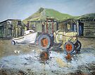 Tractor Skinningrove by Sue Nichol