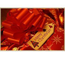 Christmas ribbons Photographic Print