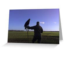 The hunt using a eagle Greeting Card