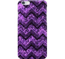 Cute Purple Glitter Chevron Pattern iPhone Case/Skin